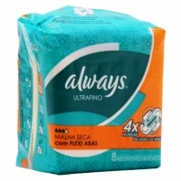 ABS ALWAYS PROTECAO TOTAL ULTRAFINO SECA COM ABAS 8 UNID