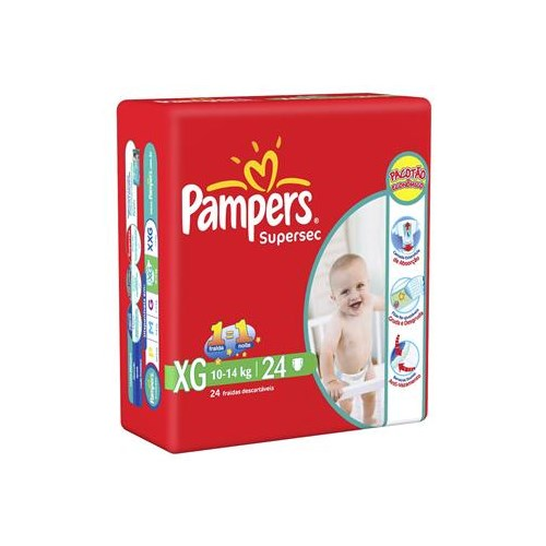 Fralda Pampers Supersec XG Com 24 Unidades