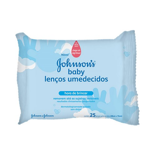 Lenco Umedecido Johnsons & Johnsons Hora De Brincar Com 25 Unidades