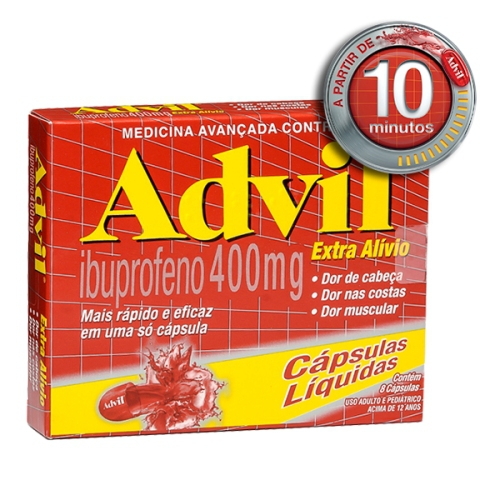 Advil Extra Alivio 400mg 8 Capsulas