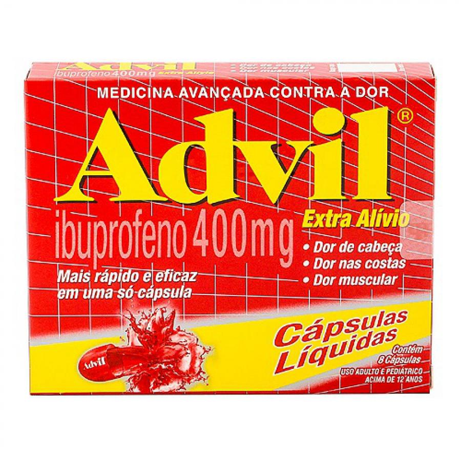 Advil 400mg 8 capsulas