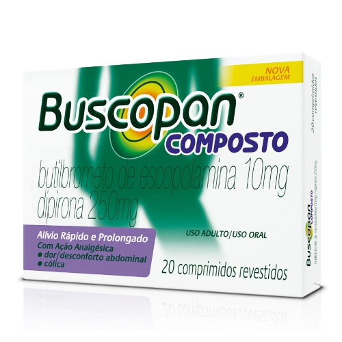 BUSCOPAN COMPOSTO 20 Drágeas