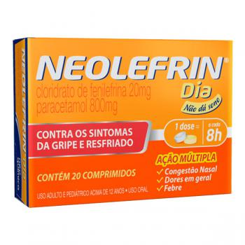 Neolefrin Dia 800mg + 20mg 20 comprimidos