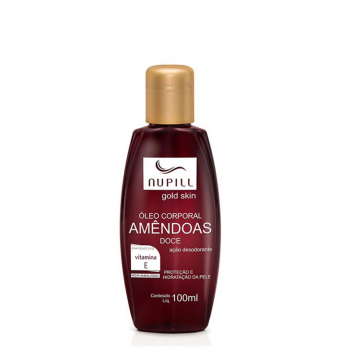 Oleo de Amendoas NUPILL Vitami E Gold Skin 100ml