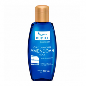 Oleo de Amendoas NUPILL Colagêno Natural Gold Skin 100ml